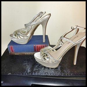 Zigi Soho Silver Jewel Sandals